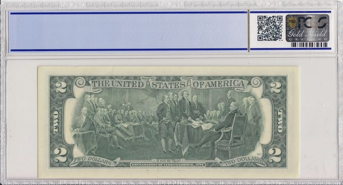 Cert 36045056 - Banknote Reverse