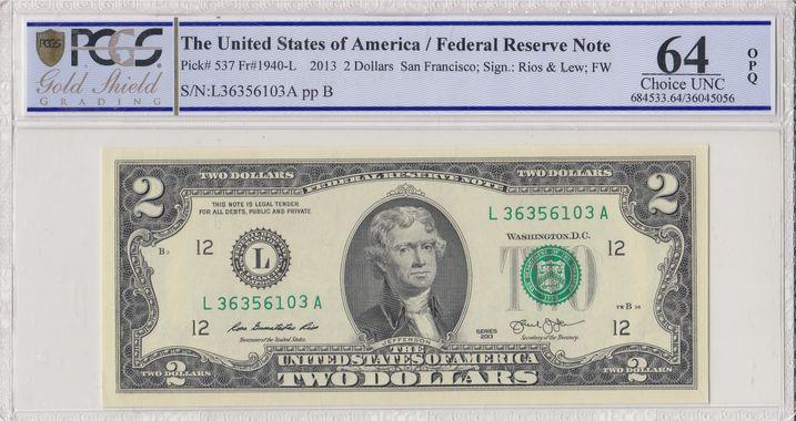 Cert 36045056 - Banknote Obverse
