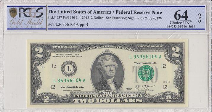 Cert 36045057 - Banknote Obverse
