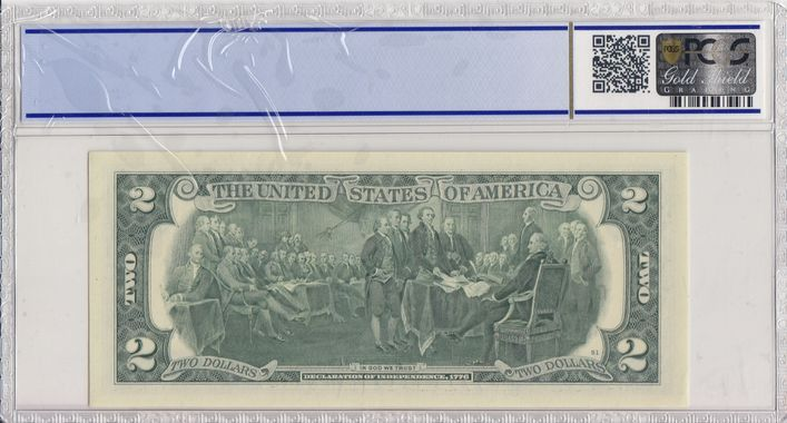 Cert 36045057 - Banknote Reverse